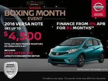 Get the 2016 Nissan Versa Note Today!