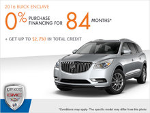 Get the 2016 Buick Enclave Today!