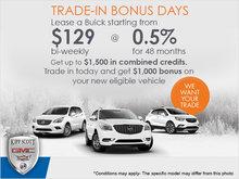 Buick's Trade-In Bonus Days Event!