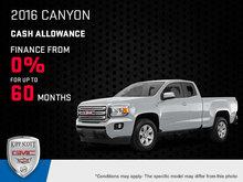 Save Big on the 2016 GMC Canyon!