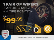 Wipers, Oil Change and Tire Rotation -- All for $99.95!