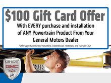 $100 Gift Card Offer