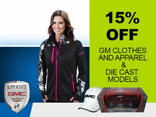 Save 15% on GM Clothing, Apparel, and Die Cast Models!