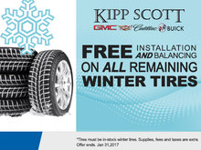 Free Installation & Balancing on ALL remaining Winter Tires!