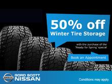 50% Off Winter Tire Storage!
