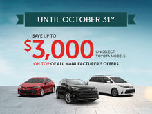 Up to $3,000 rebate on certain models