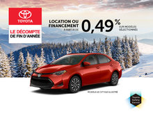 Le Décompte de fin d'année chez Spinelli Toyota
