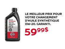 Le meilleur prix pour votre changement d'huile synthétique