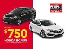 The Honda Clearout Sales Event