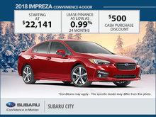 Huge Savings on the 2018 Impreza
