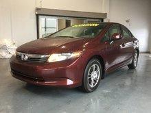 Honda Civic Sdn LX, BLUETOOTH, MAGS, RÉGULATEUR, A/C 2012 JAMAIS ACCIDENTÉ