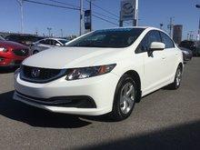 Honda Civic Sedan LX, SIEGES CHAUFFANTS, BLUETOOTH, MAGS, CAMERA,A/C 2015 JAMAIS ACCIDENTÉ, UN SEUL PROPRIÉTAIRE