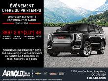 Obtenez le GMC Yukon 2018!
