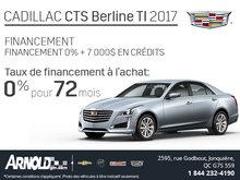 Obtenez le Cadillac CTS 2017 aujourd'hui!