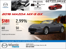 The 2016 Mazda MX-5 GX