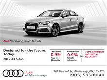 Save on the 2017 A3 Sedan!