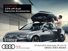 15% off Audi Genuine Accessories for the month of February