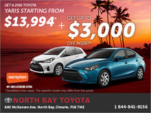 Save on the 2016 Toyota Yaris Today!