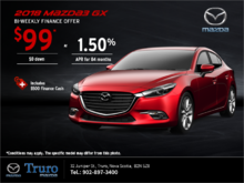 Get the 2018 Mazda3 Today!