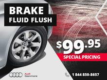 Brake fluid flush $99.95