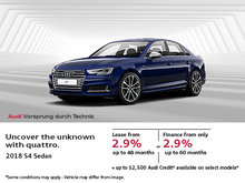 Drive Home in the Brand-New 2018 Audi S4 Now!