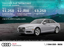 Get the 2019 Audi A4 Sedan Today!