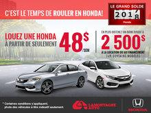 C'est le temps de rouler en Honda
