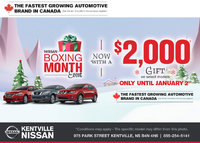 Nissan - Kentville Nissan's Boxing Month sales event is on now