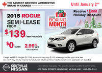 Nissan - Save on the all-new 2015 Nissan Rogue today