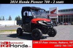 2014 Honda Pioneer 700 2 seats