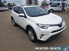2018 Toyota RAV4 AWD Limited,LEATHER,SUNROOF,AIR,TILT,CRUISE,PW,PL,LOCAL TRADE, CLEAN CARPROOF,LOW KMS!!!!
