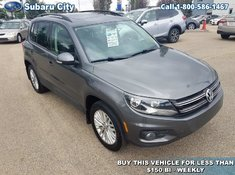 2016 Volkswagen Tiguan AWD,SUNROOF,AIR,TILT,CRUISE,PW,PL,VERY CLEAN,LOCAL TRADE!!!!