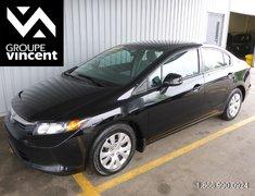 Honda Civic LX GARANTIE 10 ANS OU 200 000KM 2012