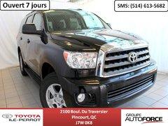 2015 Toyota Sequoia SR5 *BAS KILO* CUIR, TOIT, CAM RECUL, A/C, BLUETOO