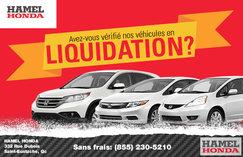 Avez-vous vérifié nos véhicules en Liquidation?