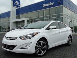 Hyundai Elantra LIMITED NAVI CUIR TOIT ÉQUIPEMENT COMPLET BALANCE DE GARANTIE COMPLÈTE HYUNDAI 2014