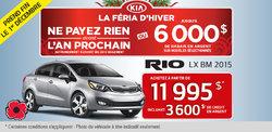 Achetez la nouvelle Kia Rio LX BM 2015 à vous à partir de 11 995$