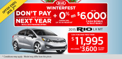 2015 Kia Rio LX MT - Yours for only $11,995