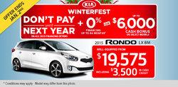 Get the 2015 Kia Rondo LX BM from $19,575