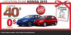 L'événement on s'emballe pour Honda
