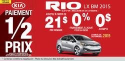 Achetez la nouvelle Kia Rio LX BM 2015 à vous à partir de 21$/semaine
