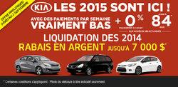 Les modèles Kia 2015 sont finalement arrivés!