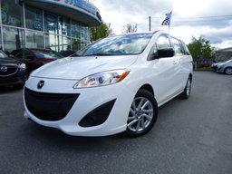 Mazda Mazda5 2014 GS, Auto, Air, Mag, Blanc, 6 passagers GS, Auto, Air, Mag, 6 places