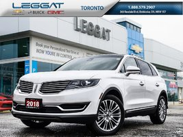 2018 Lincoln MKX Lease 0 Down $320 Bi-Weekly Plus HST *