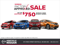 Nissan - Nissan Factory Approved Sale