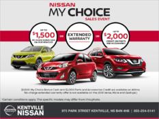 Nissan - Nissan My Choice Sales Event