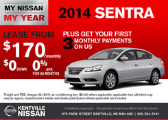 Nissan - Save on the 2014 Nissan Sentra now!