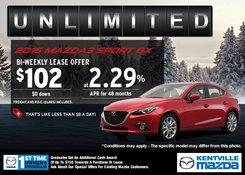 Mazda - 2015 Mazda3 Sport GX - Lease it for $102