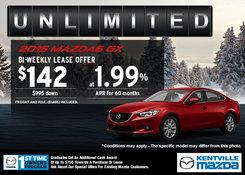 Mazda - Lease the 2015 Mazda6 GX for $142