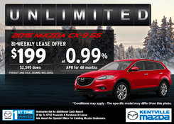 Mazda - Save on a new 2015 Mazda CX-9 GS today